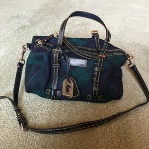 Dooney & Bourke Wool Tartan Barrel Bag